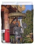 Wat Phuak Hong Phra Wihan Monk Figure Dthcm0579 Duvet Cover