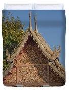 Wat Sri Don Chai Phra Ubosot Gable Dthcm0095 Duvet Cover