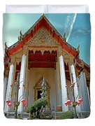 Wat Suthat In Bangkok-thailand Duvet Cover