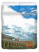 Wat Tha Sung Temple In Uthaithani-thailand Duvet Cover
