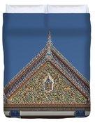 Wat Thewasunthon Preaching Hall Gable Dthb1423 Duvet Cover