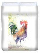 Watchful Rooster Duvet Cover