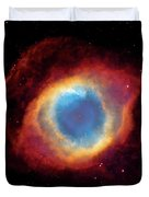 Watching - Helix Nebula Duvet Cover by Jennifer Rondinelli Reilly - Fine Art Photography