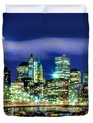 Watching Over New York Duvet Cover