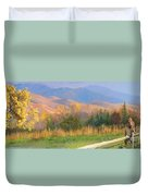 Watching The Field  Duvet Cover