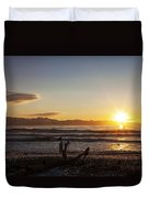 Watching The Sunset With Friends Duvet Cover