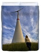 Watching Wind Power Duvet Cover