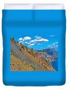 Watchman Overlook In Crater Lake National Park-oregon Duvet Cover