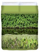 Water And Green Duvet Cover