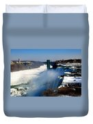 Water And Ice Duvet Cover
