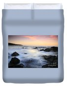 Water And The Sunset Duvet Cover