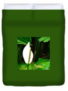 Water Arum In Park Across From Wat Phrathat Doi Suthep In Chiang Mai-thailand. Duvet Cover