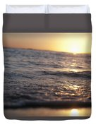Water At Sunset Duvet Cover