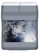 Water Behind A Ship Duvet Cover