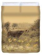 Water Buffaloes At Corroboree Billabong V2 Duvet Cover