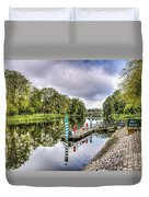 Water Bus Stop Bute Park Cardiff Duvet Cover