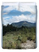 Water-carved Base Rock And Mt Baldy Duvet Cover