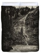 Water Cascade Along The Animas River Colorado Dsc07657 Duvet Cover
