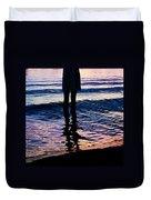 Water Color Echos Duvet Cover