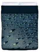 Water Droplets Close-up View  Duvet Cover