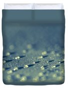 Water Droplets Close-up View On Plastic Chair Duvet Cover
