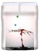 Water Droplets Collision Liquid Art 11 Duvet Cover