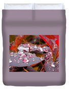 Water Drops After The Rain Duvet Cover