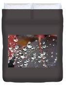 Water Drops On Cotinus Duvet Cover