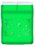 Water Drops On Green Duvet Cover