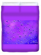 Water Drops On Purple And Blue Duvet Cover