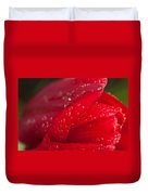 Water Drops On Tulip Duvet Cover