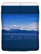 Water Earth Sky Duvet Cover