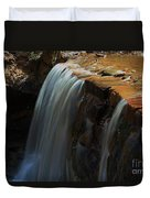 Water Fall At Seven Falls Duvet Cover by Robert D  Brozek