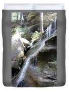 Water Fall In Hocking Hills Duvet Cover