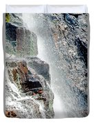 Water Fall Off Mt. Wilson Colorado Duvet Cover