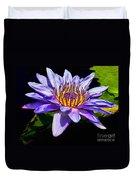 Water Flower Duvet Cover by Nick Zelinsky