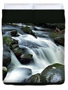 Water Flowsthrough The Mountains Duvet Cover