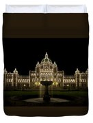 Water Fountain By Parliament Buildings In Victoria Bc Duvet Cover