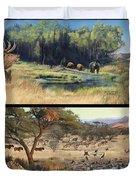 Water Hole Safari Duvet Cover