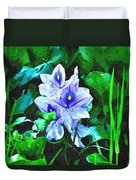Water Hyacinth 1 Duvet Cover