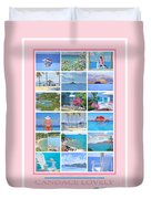 Water Island Poster Duvet Cover