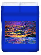 Water Island Sunset Duvet Cover