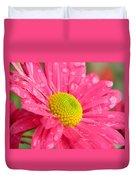 Water Kissed Pink Chrysanthemum  Duvet Cover
