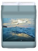 Water Level Surf And Pier 11 10/18 Duvet Cover