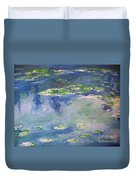Water Lilies Giverny Duvet Cover