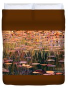 Water Lilies Re Do Duvet Cover