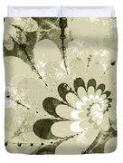 Water Lilies Spirals Duvet Cover