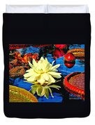 Water Lilly Pond Duvet Cover