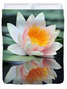 water lily 45 Water Lily with Reflection Duvet Cover