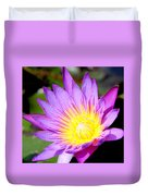 Water Lily In Purple Duvet Cover
